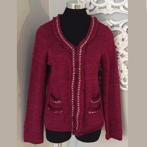 White House Black Market Chain Cardigan Sweater L